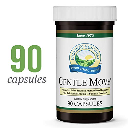 Nature's Sunshine Gentle Move, 90 Capsules | Herbal Laxative Works in 3 Different Ways to Gently and Naturally Move Intestinal Contents Through The Digestive Tract