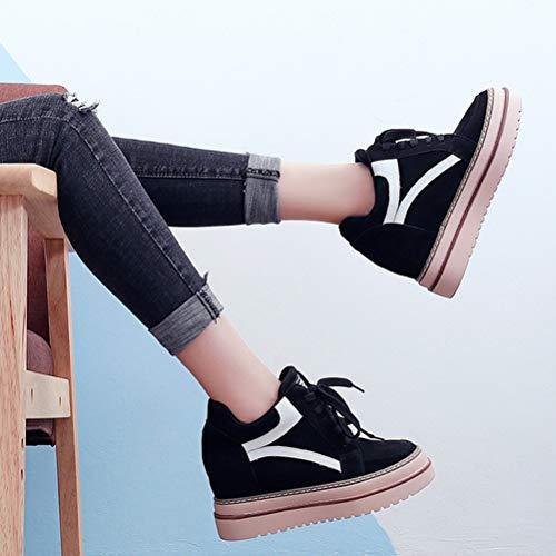 B Liuhoue Chaudes Lacets Chaussures Rehauts Femmes De Occasionnelles Faible e9WEIY2HDb