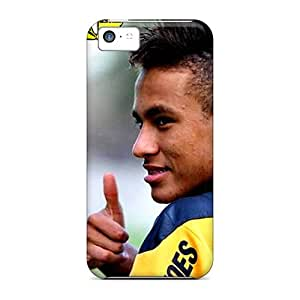 DnTxV15520bBRkG S.N.H Awesome Case Cover Compatible With Iphone 5c - The Football Player Of Barcelona Neymar And His New Hairstyle