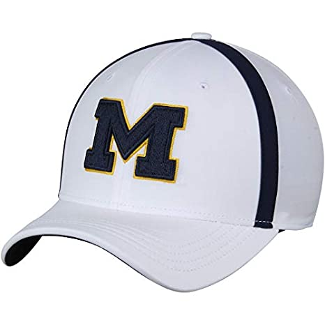 new style 4ef51 dee8b Image Unavailable. Image not available for. Color  Nike Michigan Wolverines  2017 AeroBill Sideline Swoosh Coaches Performance Adjustable Hat. Click  image to ...