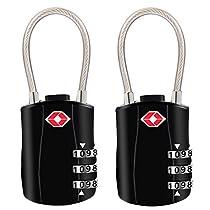 TSA Luggage Locks, [Newest Version][2 Packs] Diyife 3-Digit Security Padlock, Combination Padlocks, Code Lock for Travel Suitcases Luggage Bag Case etc.(Black)