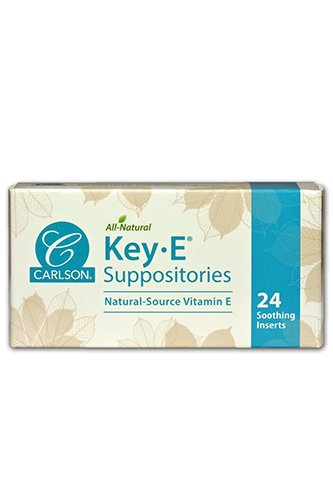 Carlson Labs Key-E Suppositories with Natural Vitamin E, 24 Count