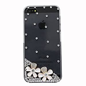 JOEZircon White Flowers Pattern Hard Case for iPhone 5/5S