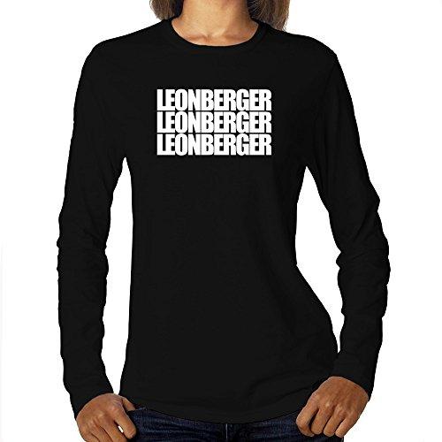 Eddany Leonberger Three Words Maglietta a Maniche Lunghe da Donna