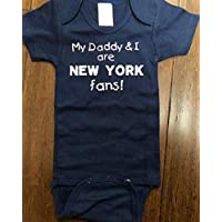 My Daddy and I are New York fans baby bodysuit infant Yankees one piece