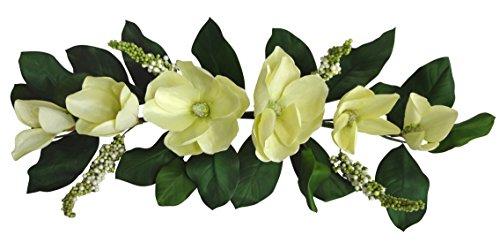32'' Cream Magnolia Swag by V-Max Floral Decor