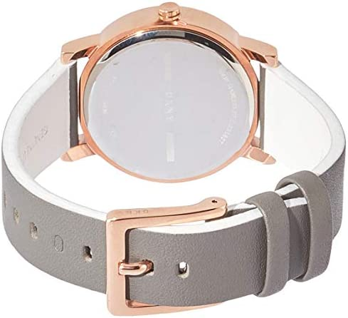 DKNY Women Soho Quartz Leather Gray with Rose Gold White Dial Watch NY2764