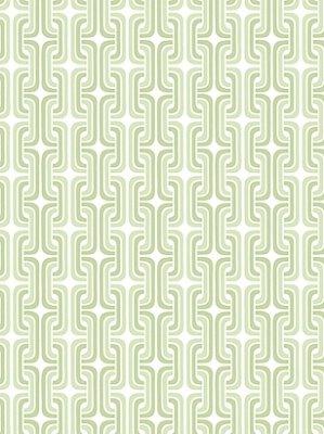 Peek A-boo Links - Peek-A-Boo Franco Graphic Chain Link Wallpaper Color: White / Soft Green / Medium Green