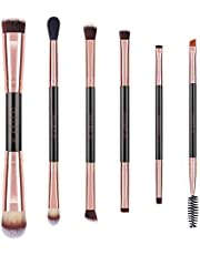 Docolor Makeup Brushes 6Pieces Double Sided Makeup Brushes Set Professional Foundation Eyeshadow Travel Make Up Brushes Kits