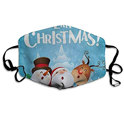 Christmas Snowman Deer Pine Tree Snow Trendy Dust Mouth Mask Reusable Anti-Dust Face Mask Adjustable Earloop Skin Protection