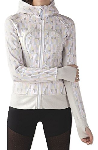 Lululemon Scuba Hoodie Stained Glass Love White Neutral Blush (8) by Lululemon