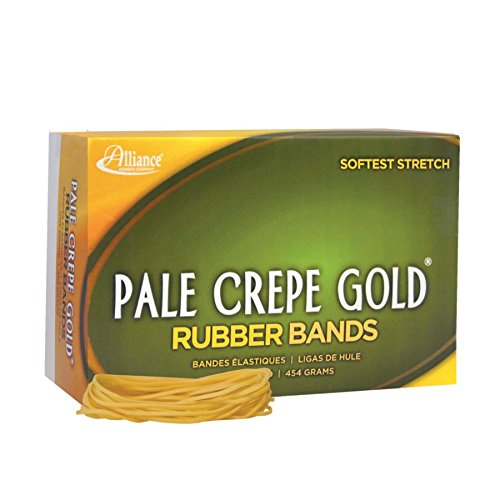 Alliance(R) Pale Crepe Gold™ Rubber Bands In 1 Lb. Box, #19 3 1/2in. x 1/16in., Box Of -