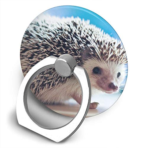Round Finger Ring Cell Phone Holder Hedgehog 360 Degree Rotating Stand Grip Mounts