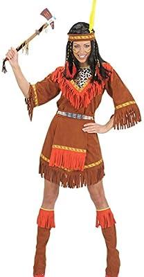 karnevalstore24 – Disfraz indios Mujer Wilder Western marrón rojo ...