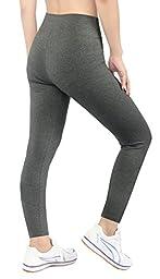iLoveSIA 2PACK Women\'s Tights Capri Ankle Workout Leggings US Size S Black+GREY