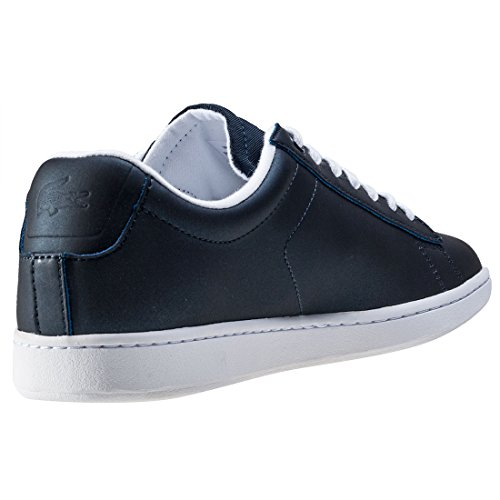 Lacoste Dames Carnaby Evo Metallic Trainers Us8 Blauw