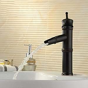 SKT de Home grifos para lavabo–Art Deco/Retro–Cascada–Latón (Bronce con ölschliff)