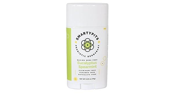 SmartyPits Desodorante probiótico (sin bicarbonato de soda) Menta verde y eucalipto: Amazon.es: Belleza