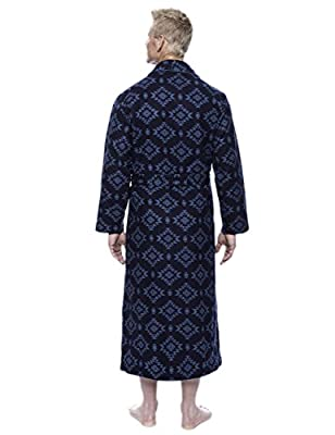Twin Boat Men's 100% Cotton Flannel Long Robe