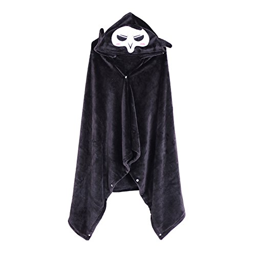 Overwatch Reaper Costume (Rulercosplay Fashion Cloak Overwatch Reaper Design Black Flannel Cosplay Cloak)