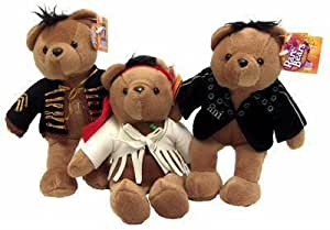 JIMI HENDRIX RARE BEAR BEARS BEANIE PLUSH LIMITED EDITION SET OF 3 8 INCH NEW