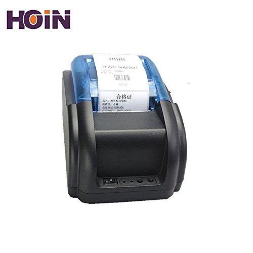 HOIN 58mm Thermal Barcode Sticker Label + Receipt Printer