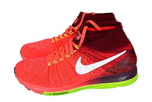 Nike Women's Zoom All Out Flyknit Running Shoes Bright Crimson/White-tm Rd-volt