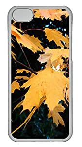 Autumn Leaves Polycarbonate Hard Case Cover for iPhone 5C ¨CTransparent