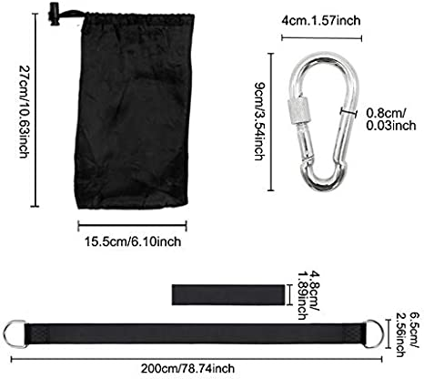 Easy Install for Any Swing or Hammock Holds 2200lbs Tree Swing Hanging Straps Outdoor Premium Swing Straps Kit 1.2m//47inch Extra Long Swing Hanging Strap With Safer Lock Snap Carabiner Hooks