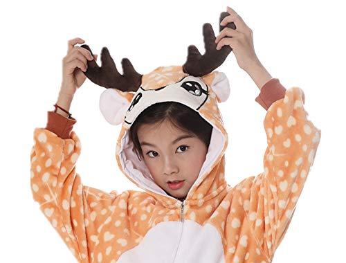 Deer Onesie Kids Pajamas Onepiece Halloween Cosplay Costume Animal Outfit