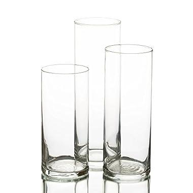 Eastland Glass Cylinder Vase Set of 3
