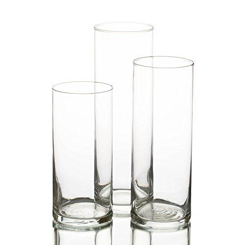 Eastland Cylinder Floating Candle Vase Set of -
