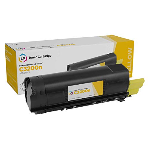 LD Compatible Toner Cartridge Replacement for Okidata 43034801 Type C6 (Yellow)