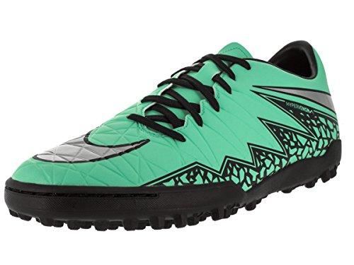 Zapatillas De Fútbol Nike Para Hombre Hypervenom Phelon Ii Tf Turf Green Glow / Plata Metálica / Hypr Orng / B