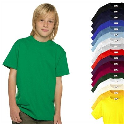 KINDER T-SHIRT FRUIT OF THE LOOM VALUE 128 140 152 164 164,Yellow