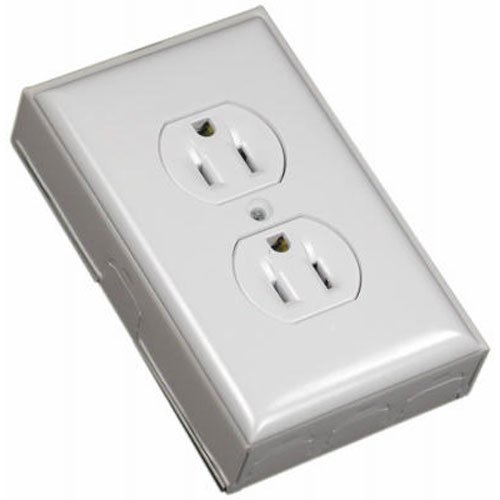 WIREMOLD COMPANY B2D Outlet Box Duplex Switch, 1-Pack, Ivory