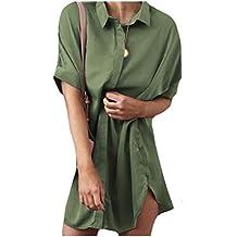 YUNY Womens Baggy Style Short-Sleeve Casual Ruffle Western Shirt