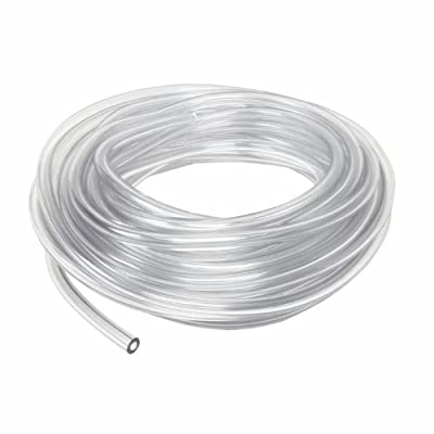 "5 Ft x 3/16"" ID, 5/16"" OD Low Pressure Clear Flexible PVC Tubing Heavy Duty UV Chemical Resistant Vinyl Hose Water Oil"