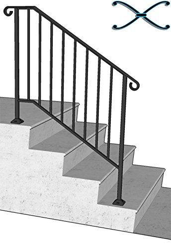 DIY Iron X Handrail Picket #3 Fits 3 or 4 Steps by Iron X Handrail