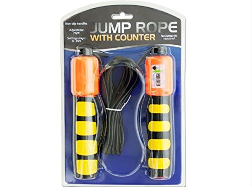 K&A Company Rope Jump Counter Non Slip Handles And Sports Training Fitness Exercise Case of 20 by K&A Company
