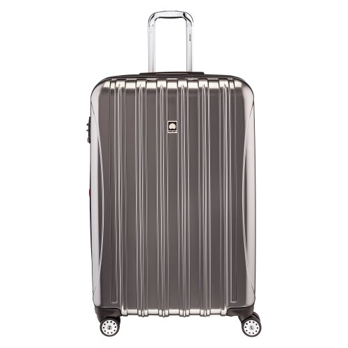 DELSEY Paris Delsey Luggage Helium Aero  Large Checked Luggage  Hard Case Spinner Suitcase  Titanium