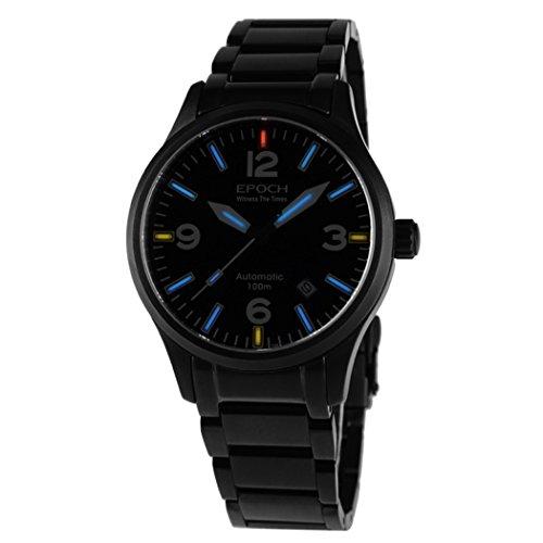 EPOCH 7009GN waterproof 100m tritium gas blue luminous black strap mens business automatic mechanical watch -  7009GN B blue steel