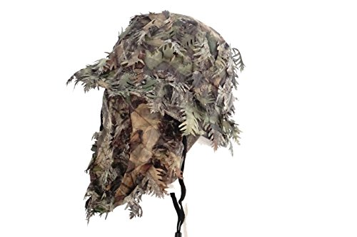Review Mossy Oak Obsession Camouflage 3D Leafy Bucket Hat with Hunting Face Mask Combination (58 cm)