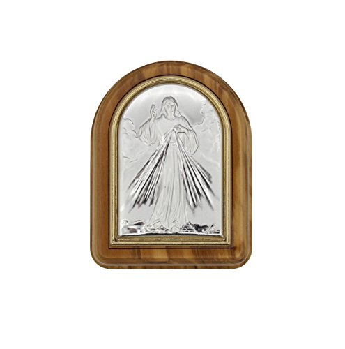 Made In Italy Jesus Divine Mercy Olive Wood Rosary Keepsake Box