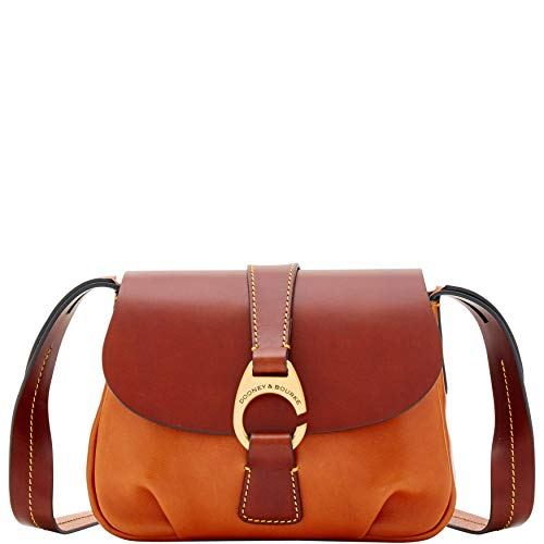 Dooney & Bourke Derby Florentine Small Flap Crossbody Shoulder - Leather Florentine Purse