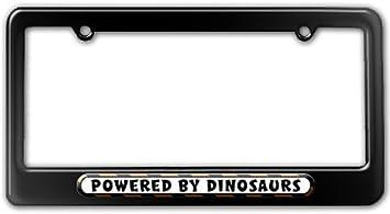 1x Jurassic Park Dinosaurs Printed Aluminum Composite Car License Plate Frame
