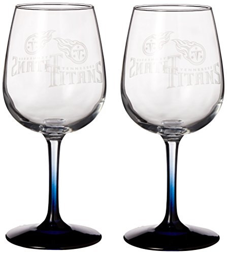 NFL Tennessee Titans Wine Glass, 12-ounce, 2-Pack