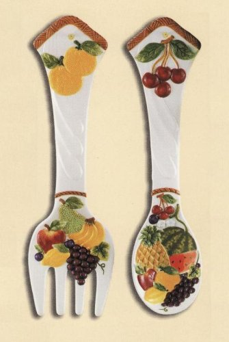 Mixed Fruit 2 Pc Large 17 Quot Spoon Fork Wall Decor