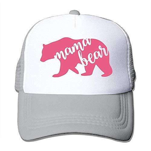 Sandra .W Mama Bear Polyester Unisex Adjustable Size Mesh Back Trucker Caps Trucker Hat Cap Halloween -