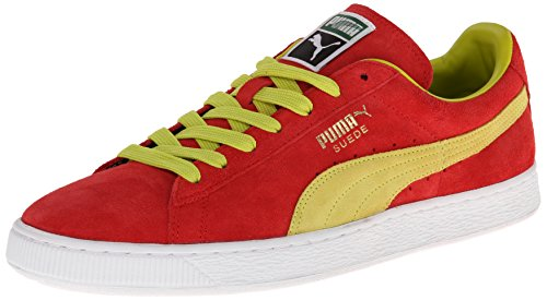 PUMA Suede Classic Sneaker,Flame Scarlet/Sulphur Spring,4 M US